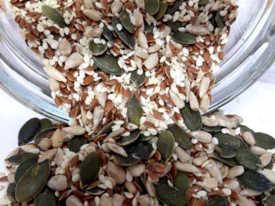 Страна на произход: България Съставки: сусан, ленено семе, слънчоглед белен суров, тиквено семе белено сурово Условия за съхранение: На сухо и проветриво място