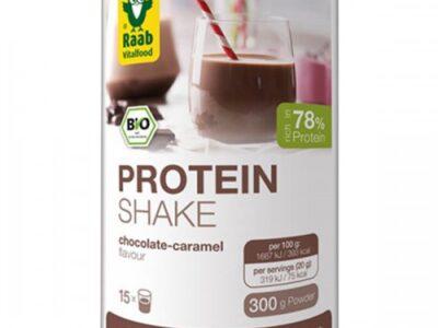Био протеинов шейк на прах с аромат на шоколад и карамел 300г
